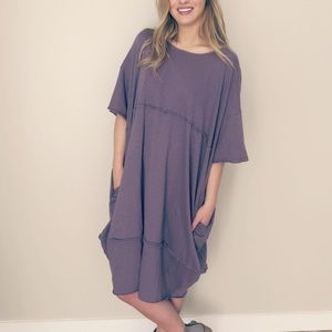 New✨ Oversized Dusty Purple Dress